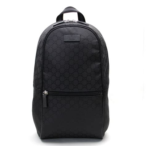 black pattern backpack auth gucci gg pattern backpack black gg nylon x leather