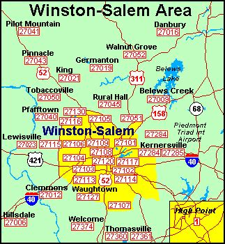 Forsyth County Nc Property Tax Records Winston Salem Zip Code Map