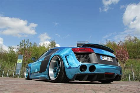 audi r8 chrome blue performance audi r8 chrome blue car tuning
