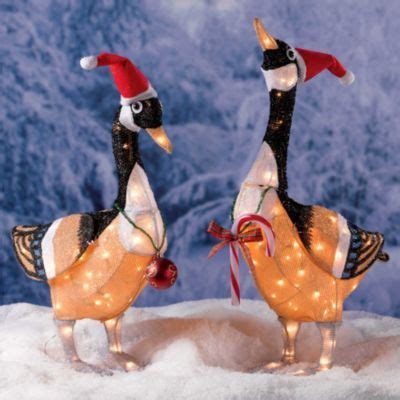 canadian geese christmas decoration set of 2 outdoor