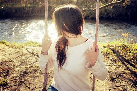 girl swings beautiful girl nature swings image 117437 on favim com