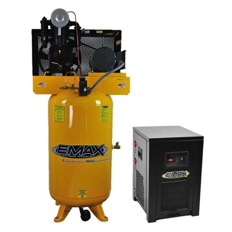 emax industrial plus series 80 gal 5 hp 1 phase 2 stage stationary electric air compressor with
