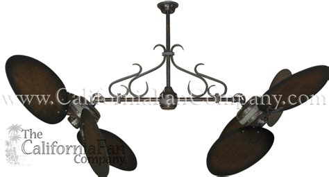 double vertical ceiling fans twin star ii double ceiling fan with 50 inch distressed