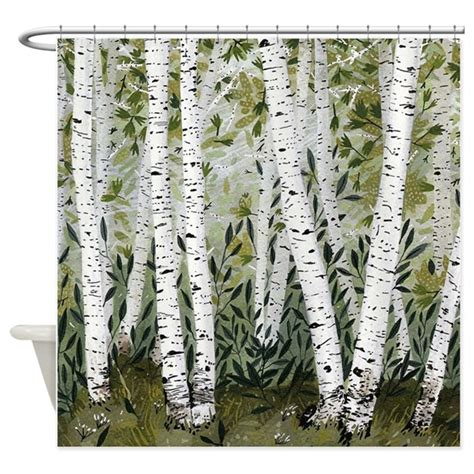 birch shower curtain birch trees shower curtain by crowsscorner