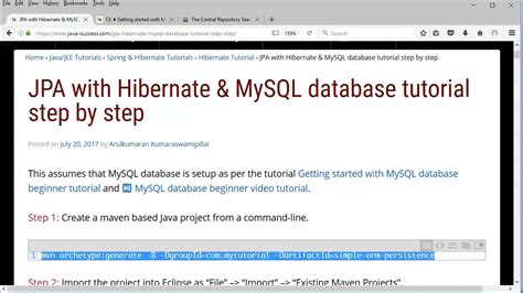 hibernate tutorial video youtube jpa with hibernate and mysql beginner tutorial youtube