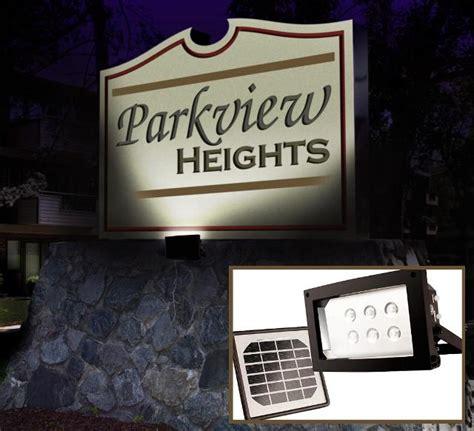 solar powered sign lights powerful solar flood light with 12 leds