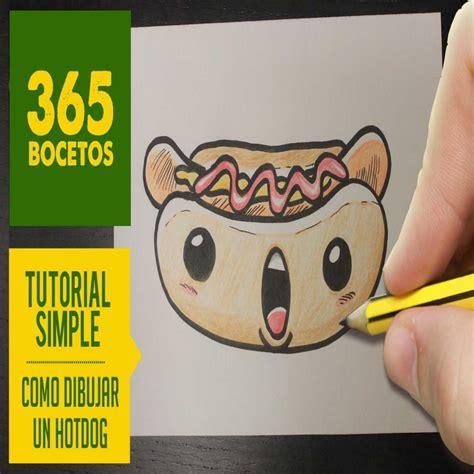 imágenes kawaii fáciles de hacer o dibujar un hot dog kawaii paso a paso dibujos kawaii