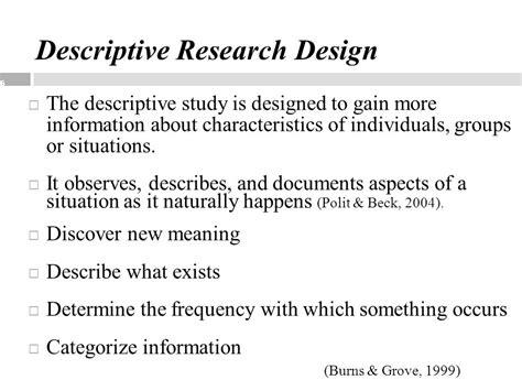 descriptive design meaning introduction to quantitative and qualitative research
