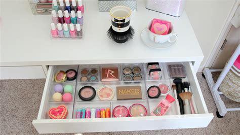 Makeup Organization Ideas Desk by Makeup Storage Desk Makeup Vidalondon