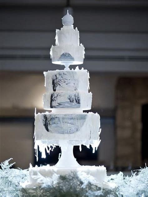 Winter Wedding Cakes by Winter Wedding Cake Ideal Weddings
