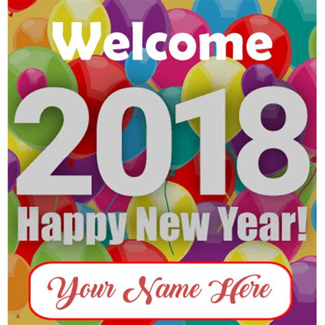 online writing your name on happy new year wishes pictures write name beautiful happy new year 2018 greeting card editable