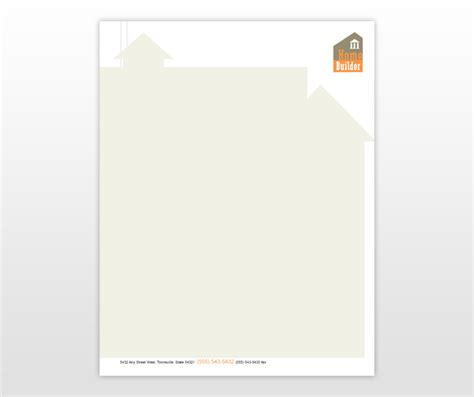 construction company letter head template