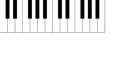 piano keyboard diagram piano clipart black and white clipart panda free