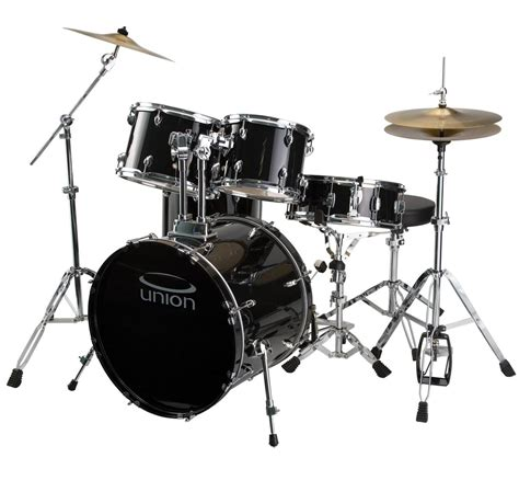 Bluss Set union u5 5 jazz rock blues drum set with hardware cymbals and throne black and more