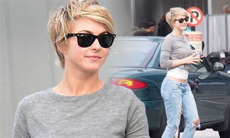 how does julianne hough style her pixie cut julianne hough is back in the sun and showing off some