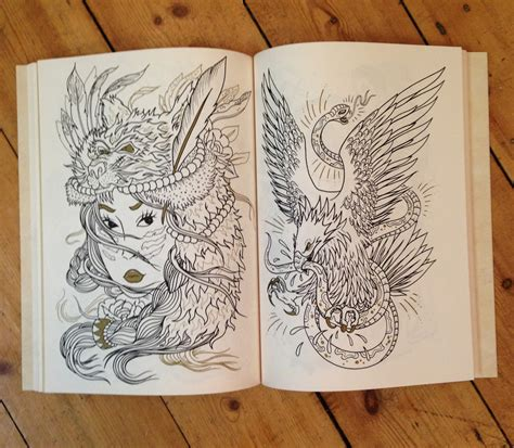 The Tattoo Colouring Book By Megamunden The Official Classic Designs Coloring Book