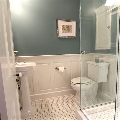 Bathroom Tile Wainscoting master bathroom design decisions tile vs wood wainscoting town home