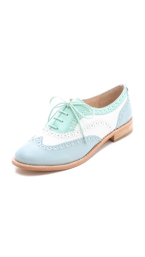 turquoise oxford shoes shoeniverse sam edelman blue turquoise jerome oxfords