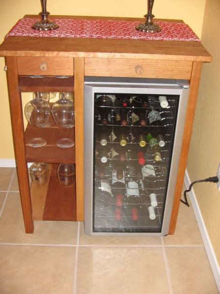 cherry wine bar mini fridge cabinet kreg owners community