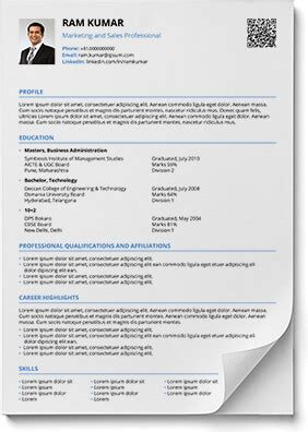 modern cv format pdf resume formats in word and pdf