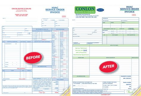 Landscape Forms Custom Con6570 Landscaping Work Order Invoice 8 1 2 X 11 Quot