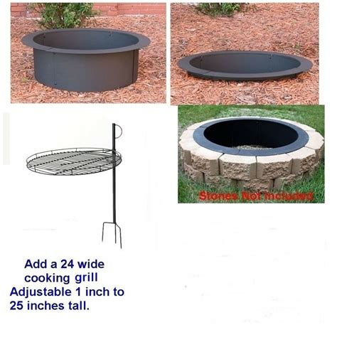 Outdoor Pit Ring Kits by 4 Pc Diy Outdoor Replacement Steel Pit Ring