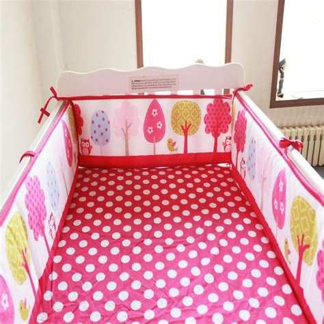 Baby Crib Bedding Stores Aliexpress Buy 9 Styles Baby Bumper 100 Cotton Baby Bedding Crib Bumper Around