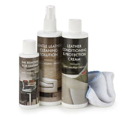 Leather Sofa Cleaning Products by Complete Leather Furniture Care Cleaning Kit Lakeland