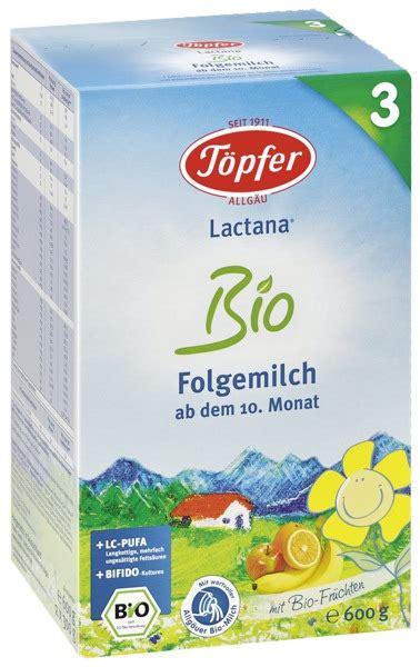 T 246 Pfer Lactana Bio 3 Folgemilch Ab Dem 10 Monat 600g