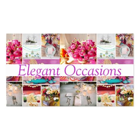 catering party service decorations occasions business card