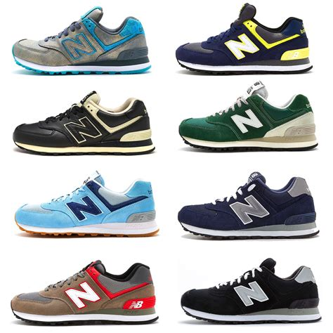 New Balance 574 Classic Original new balance 574 classic suede textile retro trainers in