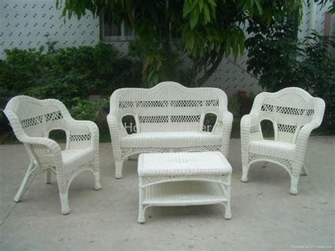 White Patio Furniture Gray Resin Wicker Outdoor Furniture Patio Outdoor