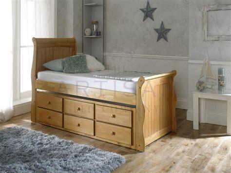 oak captains bed captain guest bed 3 drawer storage oak