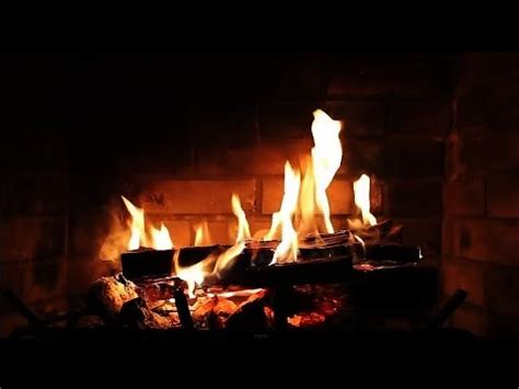 burning fireplace with crackling sounds hd