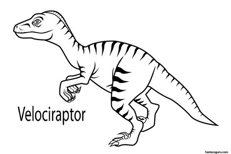 Velociraptor Coloring Pages free coloring pages of raptors