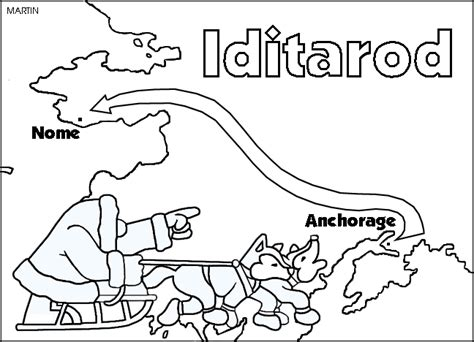 iditarod coloring pages 108 alaska clipart tiny clipart