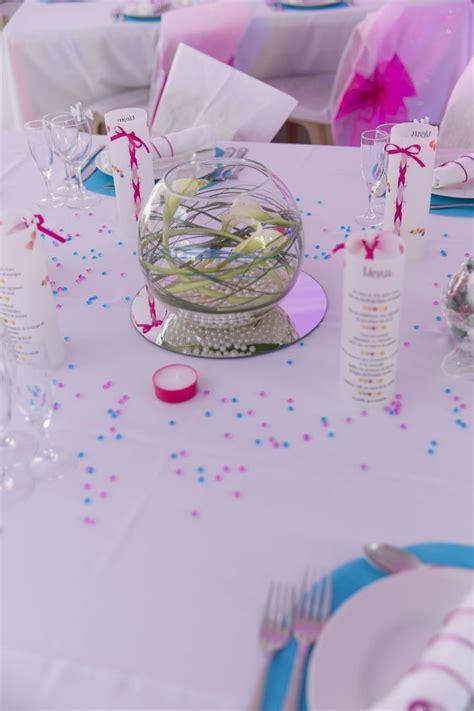 Centre De Table Fushia by Centre De Table Mariage Th 232 Me Bonbons Couleurs Fuchsia