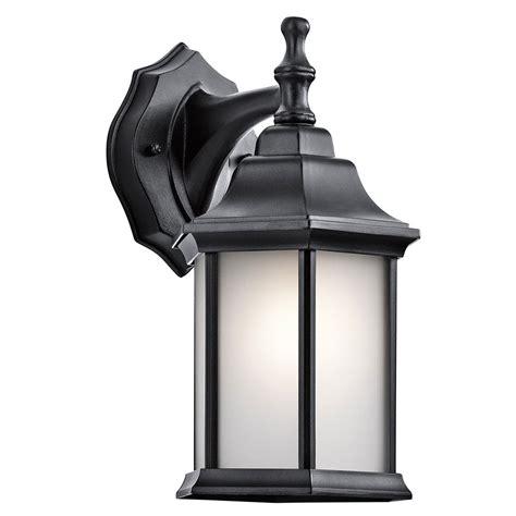 kichler outdoor lighting kichler 9776bks chesapeake black outdoor wall sconce