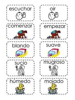theme synonym in spanish sinonimos memorama spanish dual language and teacher stuff