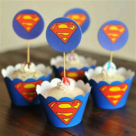 Wrapper Topper Cupcake 1pack Hello upsy superman cupcake wrappers and toppers