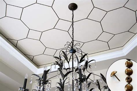9 creative low cost upgrades from our favorite bloggers san 8 nailhead dining room ceiling 9 creative low cost