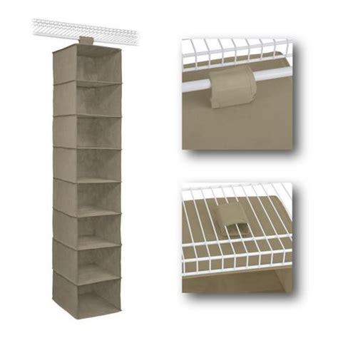 Closetmaid 30 Inch Shelf by Closetmaid 54 Inch Mocha 8 Shelf Hanging Organizer