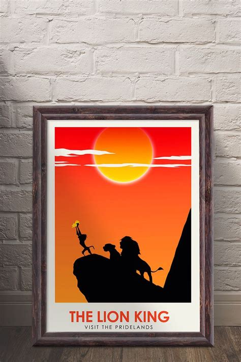 the lion king minimalist art print available now on etsy