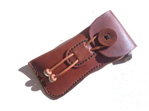 Handmade Eyeglass Cases - handmade leather eyeglass sewn stained