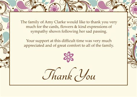 template for thank you card after funeral free funeral thank you cards templates ideas anouk