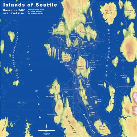 seattle islands map islands of seattle the whole u