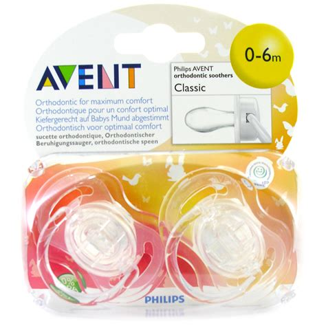 Avent Soother Freeflow 6 18 Mths X2 avent classic silicone soothers 0 6 months choice of designs one supplied ebay