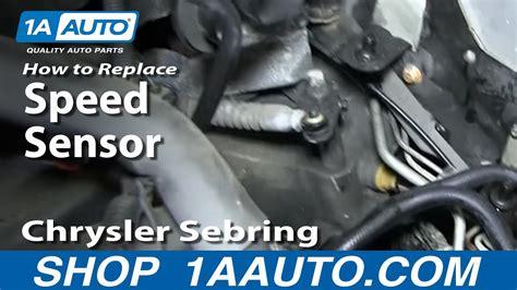 auto manual repair 2005 chrysler sebring transmission control how to replace speed sensor 95 10 chrysler sebring youtube