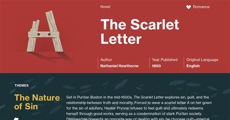 themes in chapter 7 of the scarlet letter the scarlet letter infographic course hero