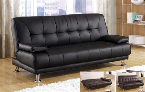 1pc contemporary modern leatherette futon sofa bed bm jf21